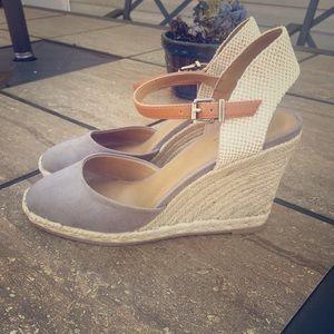 Bass Hemp & Suede Wedge Sandals